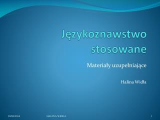 Jezykoznawstwo stosowane
