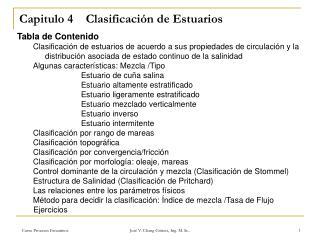 Capitulo 4    Clasificaci n de Estuarios