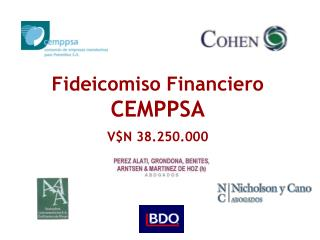 Fideicomiso Financiero  CEMPPSA  VN 38.250.000