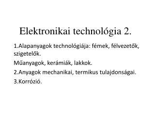 Elektronikai technol gia 2.