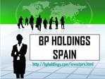 BP HOLDINGS SPAIN: Privatanleger - friendfeed