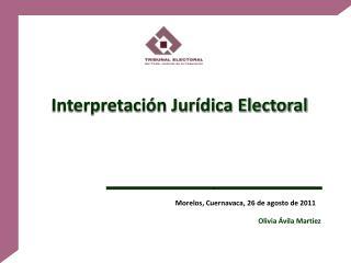 Interpretaci n Jur dica Electoral