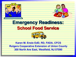 Emergency Readiness: School Food Service