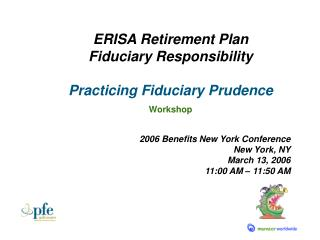ERISA Retirement Plan Fiduciary Responsibility