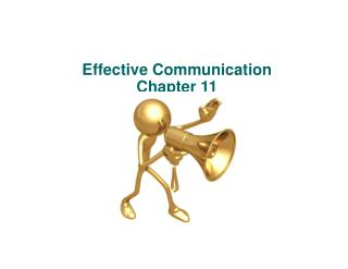 Effective Communication Chapter 11