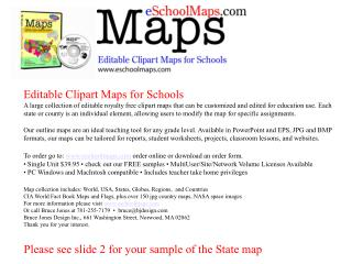 Please see slide 2 for your sample of the State map