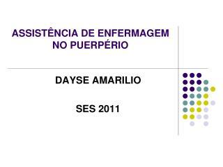 ASSIST NCIA DE ENFERMAGEM NO PUERP RIO
