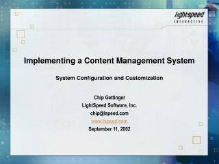 Implementing a Content Management System   System Configuration and Customization