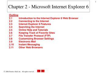 Chapter 2 - Microsoft Internet Explorer 6
