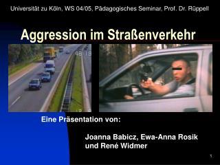 Aggression im Stra enverkehr