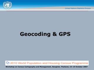 Geocoding  GPS