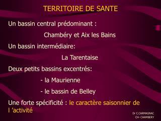 Un bassin central pr dominant : Chamb ry et Aix les Bains Un bassin interm diaire: La Tarentaise Deux petits bassins exc
