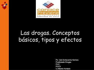 Las drogas. Conceptos b sicos, tipos y efectos