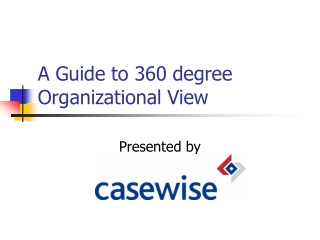 A Guide To 360 degree Organizational View