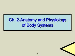 Ch. 2-Anatomy and Physiology