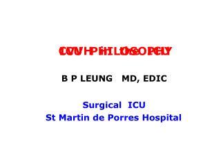 CVVH  in  the  ICU