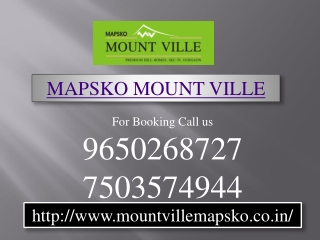 mapsko Mount Ville Gurgaon