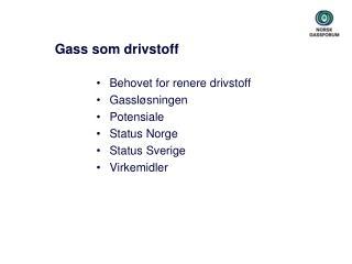 Gass som drivstoff