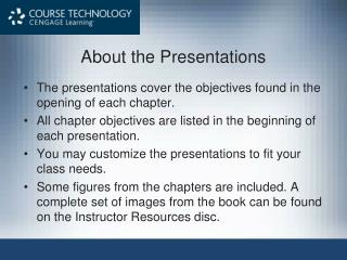 About the Presentations