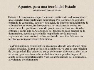 Apuntes para una teor a del Estado   Guillermo O Donnell 1984