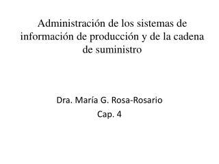Administraci n de los sistemas de informaci n de producci n y de la cadena de suministro