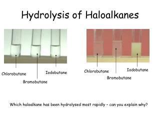 Hydrolysis of Haloalkanes