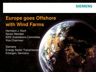 Europe goes Offshore with Wind Farms