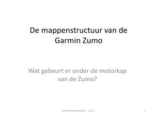 De mappenstructuur van de  Garmin Zumo