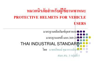 PROTECTIVE HELMETS FOR VEHICLE USERS
