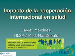 Impacto de la cooperaci n internacional en salud