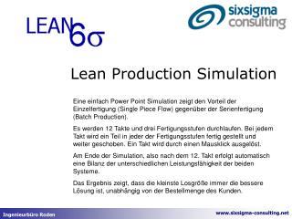 Lean Production Simulation