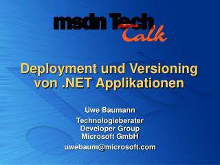 Deployment und Versioning  von  Applikationen