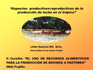 Aspectos  productivos-reproductivos de la producci n de leche en el tr pico