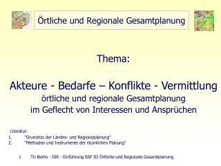 rtliche und Regionale Gesamtplanung