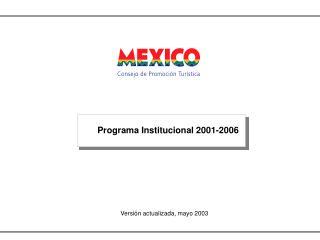 Programa Institucional 2001-2006