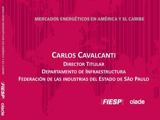 Carlos Cavalcanti Director Titular Departamento de Infraestructura  Federaci n de las industrias del Estado de S o Paulo