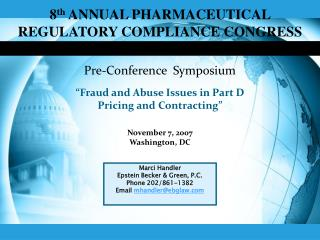 8th ANNUAL PHARMACEUTICAL REGULATORY COMPLIANCE CONGRESS