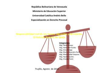 Rep blica Bolivariana de Venezuela Ministerio de Educaci n Superior Universidad Cat lica Andr s Bello Especializaci n en