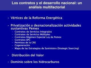 Los contratos y el desarrollo nacional: un an lisis multifactorial