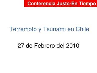 Terremoto y Tsunami en Chile
