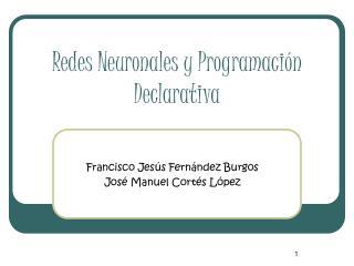 Redes Neuronales y Programaci n Declarativa