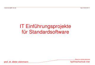 IT Einf hrungsprojekte f r Standardsoftware