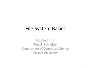 File System Basics