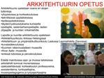 ARKKITEHTUURIN OPETUS