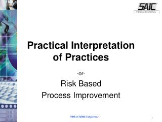 Practical Interpretation  of Practices