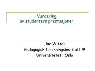 Vurdering  av studenters prestasjoner