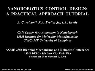 NANOROBOTICS  CONTROL  DESIGN:  A  PRACTICAL  APPROACH  TUTORIAL