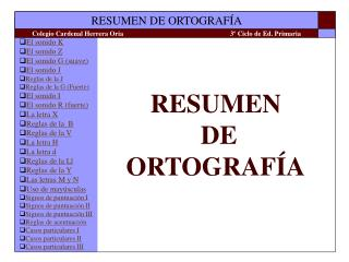 RESUMEN  DE ORTOGRAF A