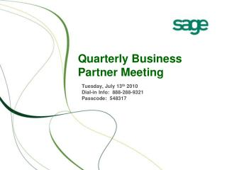Quarterly Business Partner Meeting