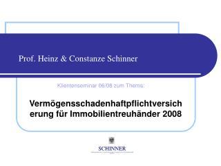 Prof. Heinz  Constanze Schinner